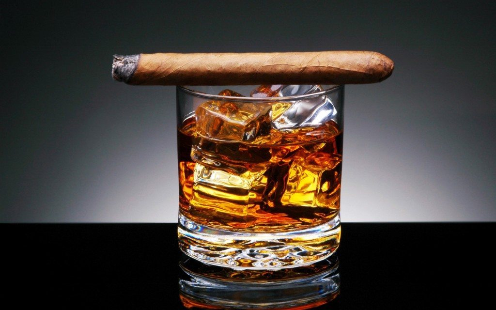 A Classic Gentleman's Evening - Cigar and Whisky