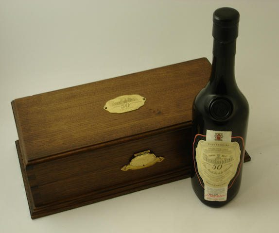 The Glenfiddich 50 year old bottle sold at Bonhams for £17,500