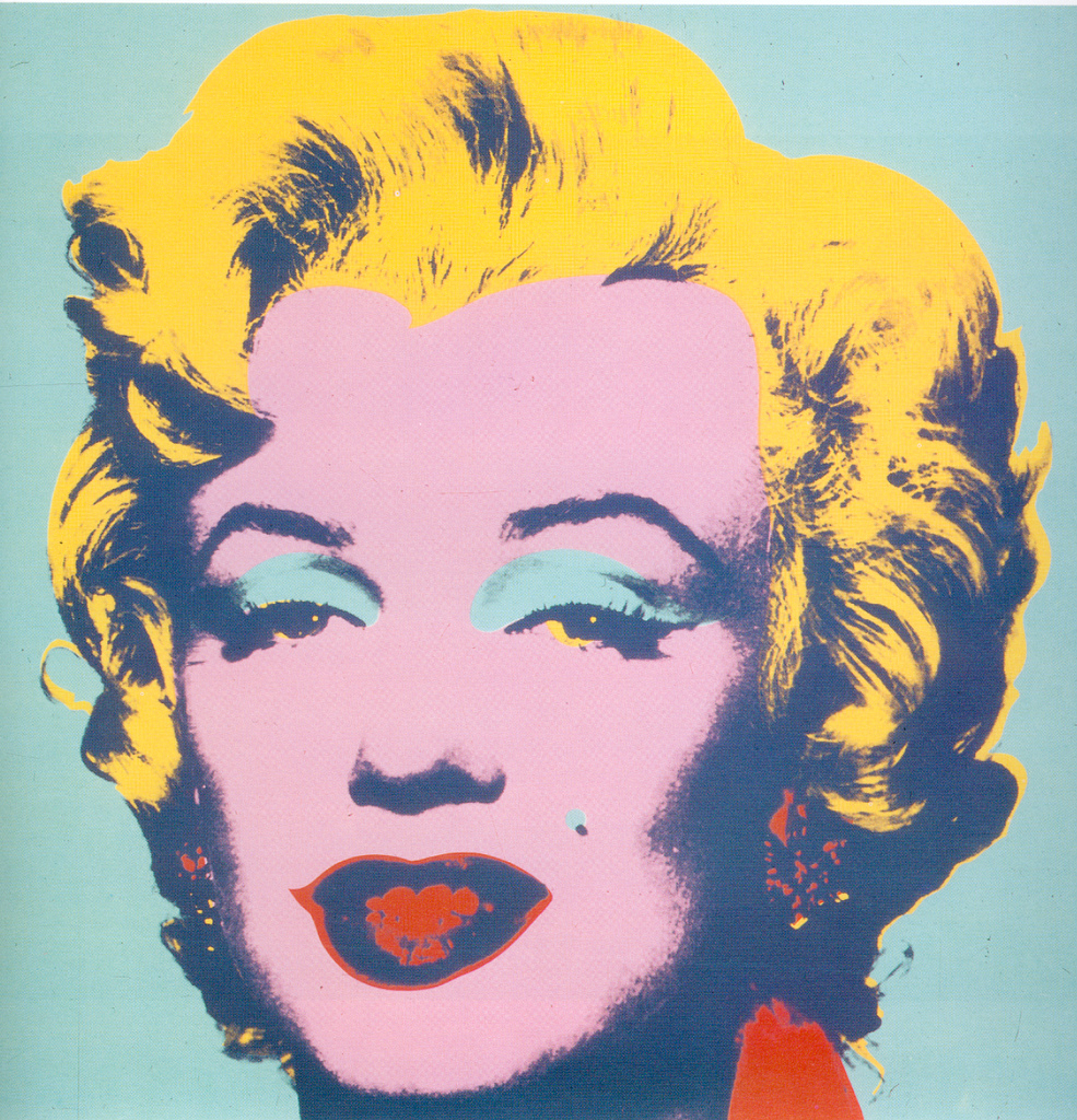 Andy Warhol's famous depiction of Marilyn Monroe.