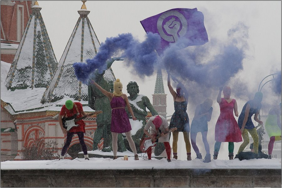 Protest artists Pussy Riot in Moscow's Red Square.